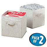 mDesign Storage Box - Storage Cube Ideal for storing various items around the house- Versatile Storage System - 2 Pack