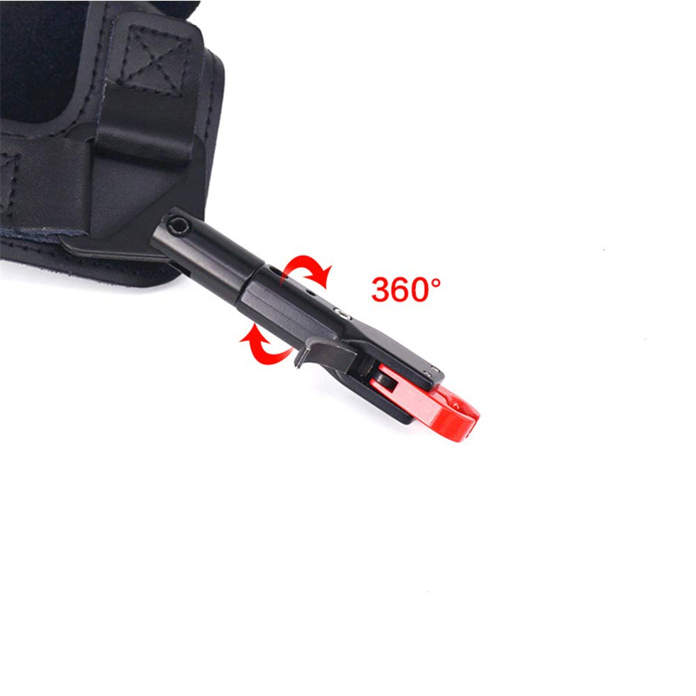 MILAEM Adjustable Compound Bow Release Aid Trigger with Buckle Wrist Strap 360 Degree Rotating Caliper Shooting Trigger Archery Accessories