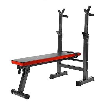 Estink Banco de pesas para fitness, banco de fitness desmontable, máquina de ejercicio con asiento y respaldo ajustables para entrenamiento de gimnasio con ...