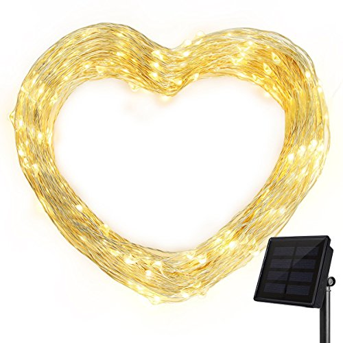 Solar String Lights, Ankway 200 LED Solar Fairy Lights 3-Strand 8 Modes 72 ft Waterproof IP65 Solar Powered String Lights Outdoor for Home Window Bedroom Patio Garden Indoor Warm White by Ankway (Image #8)
