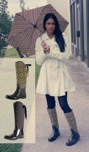 Coach Tristee A7429 Women S Rain Riding Boots Signature