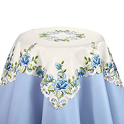 Rose And Daisy White Table Linens