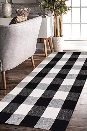 EARTHALL Hand Woven Checkered Frontdoor 23 6x70 8 product image