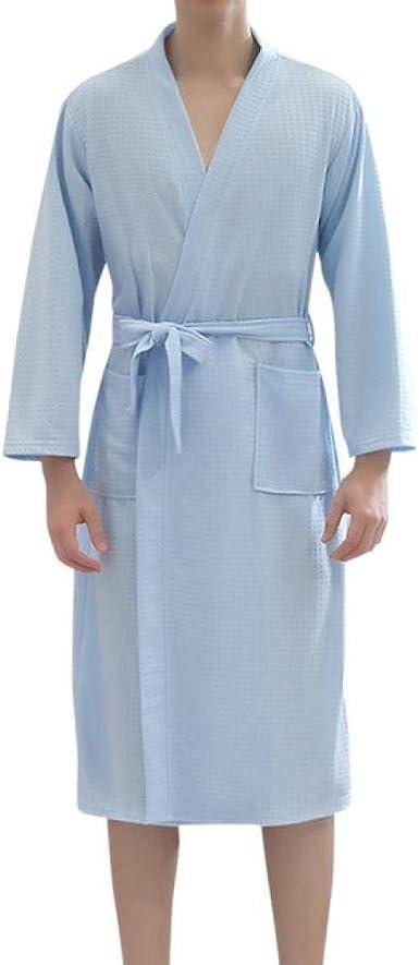 Albornoces De Algodón De Talla Grande para Hombres Kimono De Otoño ...