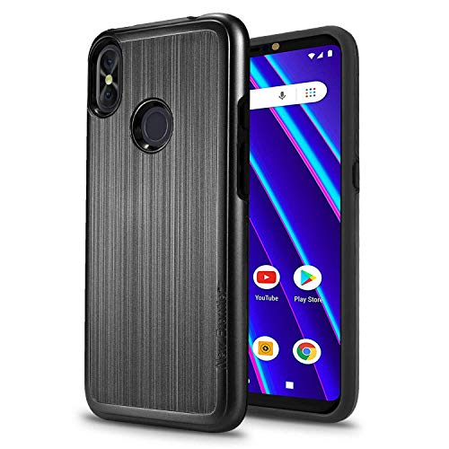 Protective Case for BLU Vivo Go V2.0,BLU Vivo Go,BLU R2 Plus 2019 Case[Shock Absorption] Drop Protection Hybrid Dual Layer Armor 2 in 1 Cover (Black)