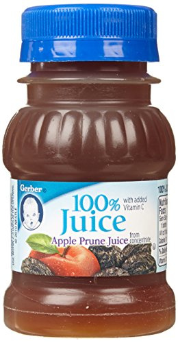 Gerber Juices Apple Prune 4 Oz - 6 Pack