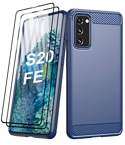 Aliruke Case for Galaxy S20 FE 5G Case with Tempered Glass Screen Protector[2 Pack],Slim Shockproof TPU Bumper Cover…