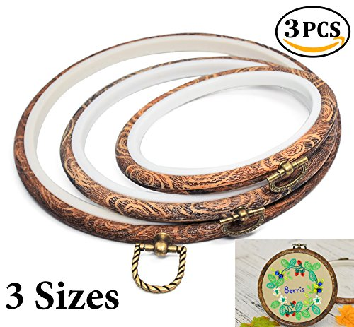 Embroidery Hoops Cross Stitch Hoop Ring Imitated Wood Circle