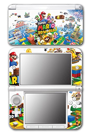 Super Mario 3D World 2 Land Mario Luigi Peach Toad Cat Suit Video Game Vinyl Decal Skin Sticker Cover for Original Nintendo 3DS XL System (Playstation 3 Super Mario)