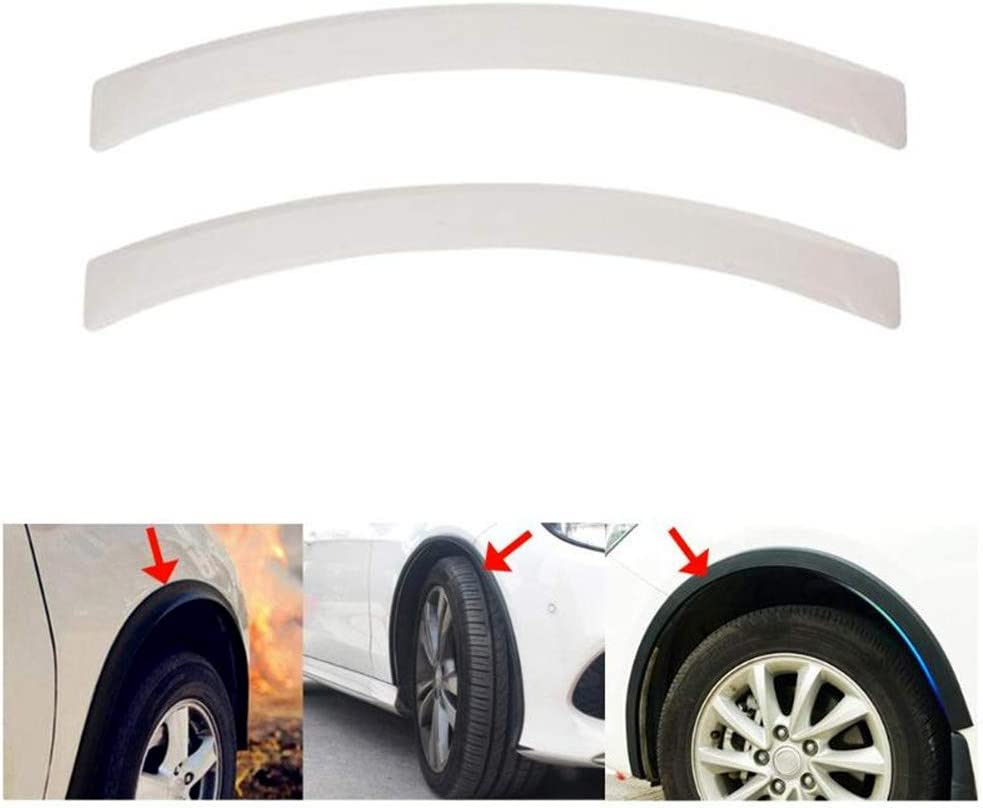 Queenbox 2pcs Car Wheel Eyebrow Arch Fender Flares Auto Mud Guard Protector Decorative Strips,Black