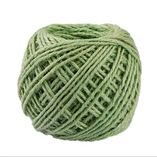 Garden Stake - 40meter Natural Burlap Hessian Jute Twine Cord Hemp Rope String Gift Packing Strings Event Party - Stake Motor Bombs Your Full Necklace Wraps Aging Strip Extract Xtra Supplement