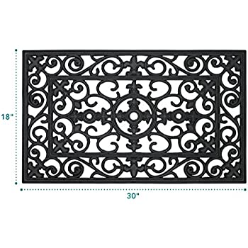 This Item MILLIARD Rubber Door Mat, U0027Lillyu0027 Design Decorative Rubber  Outdoor Doormat 30 X 18in.