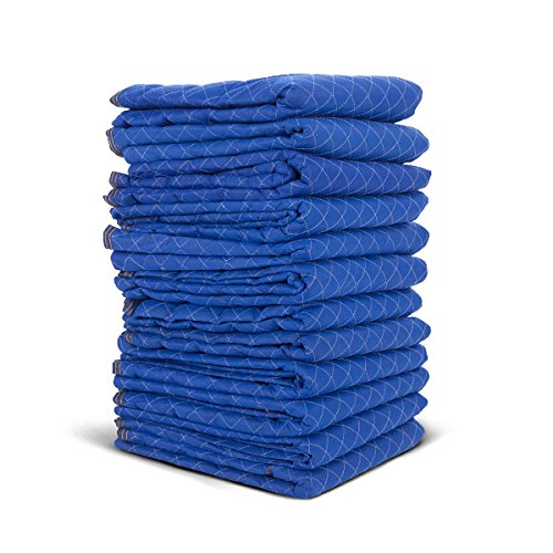 Uboxes A0075MU12 Moving Blankets, 72'' x 80'', Blue