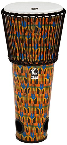 Toca Freestyle Rope Tuned 12'' Ashiko Drum - Kente Cloth by Toca