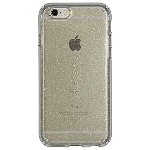 Speck Products CandyShell Clear Case for iPhone 6S Plus/iPhone 6 Plus, Gold Glitter/Clear (Iphone 6 Speck Clear Case)