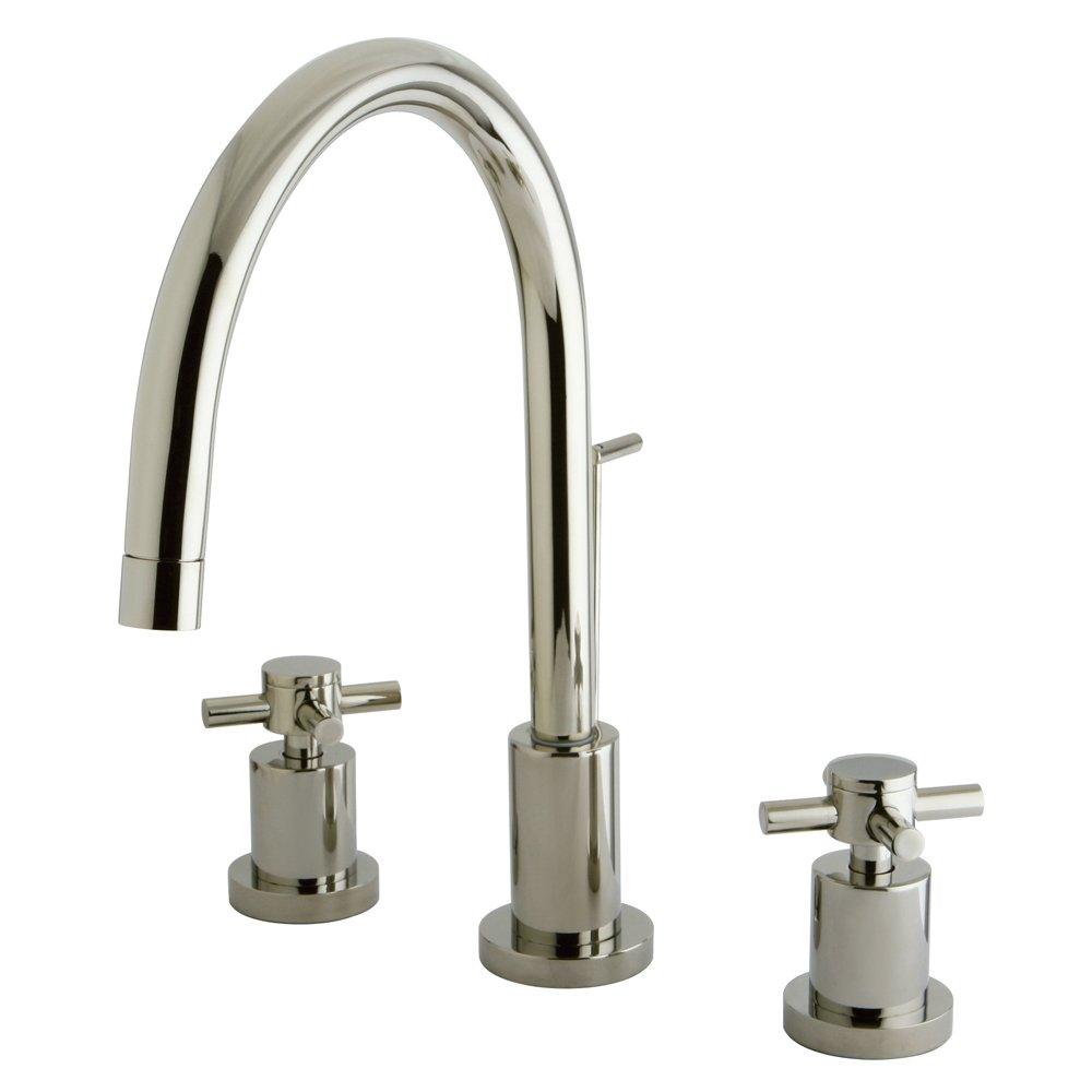 "Nuvo Elements of Design ES8926DX South Beach 4"" to 8"" 2-Handle Mini-Widespread Lavatory Faucet, 7-7/8"", Polished Nickel"