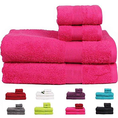 casa-basics-475gsm-premium-quick-dry-bath-hand-towels-set-4-pieces-set-pink