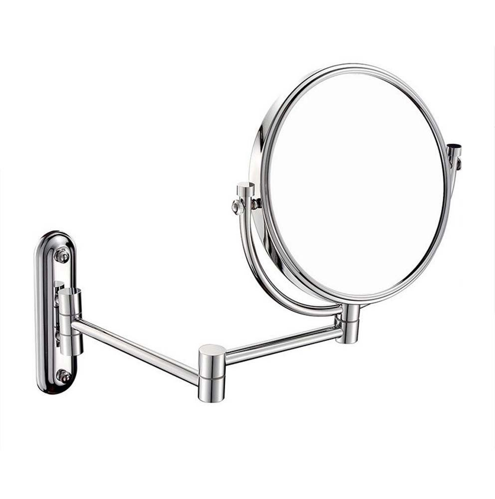 GAOLIQIN Bathroom Mirror Double Sided 8 Inch Makeup Mirror 3X, 5X,7X,10X/1X Magnification Wall Mounted Vanity Magnifying Mirror Swivel, Extendable For Bath, Spa And Hotel (Design : 10x)