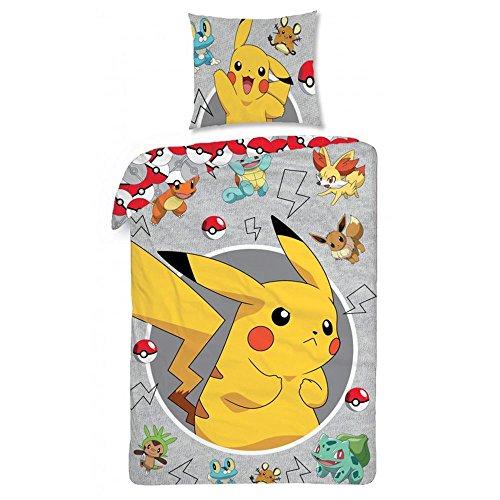 Pokemon Bed Children's Bed Linen 140 x 200 cm (Oeko Tex Standard 100)