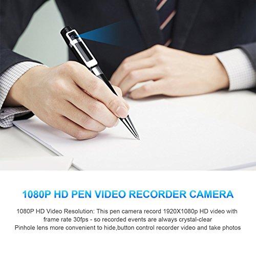 Spy Camera Pen Hidden Camera Meeting Video Recorder HD 1080P Mini Portable DVR Cam Built-in 16GB Micro SD Card + 2 Ink Fills by GooSpy (Image #2)