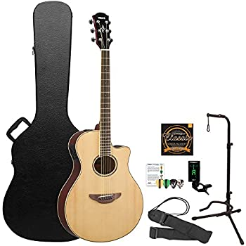 yamaha apx600 thin body acoustic electric guitar with hard case and accessories. Black Bedroom Furniture Sets. Home Design Ideas