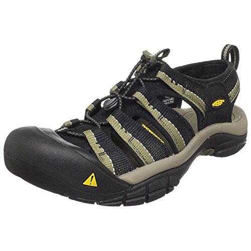 KEEN Mens Newport H2 Sandal, Black/Stone Grey, 39.5 D(M) EU/6 D(M) UK