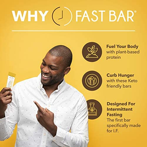Fast Bar , Nuts & Honey, Gluten Free, Plant Based Protein Bar For Weight Management & Intermittent Fasting (10 Count Box) 4