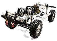 Integy RC Hobby C24866SILVERT2 V2 Billet Machined 1/10 Trail Roller 4WD Off-Road Scale Crawler ARTR