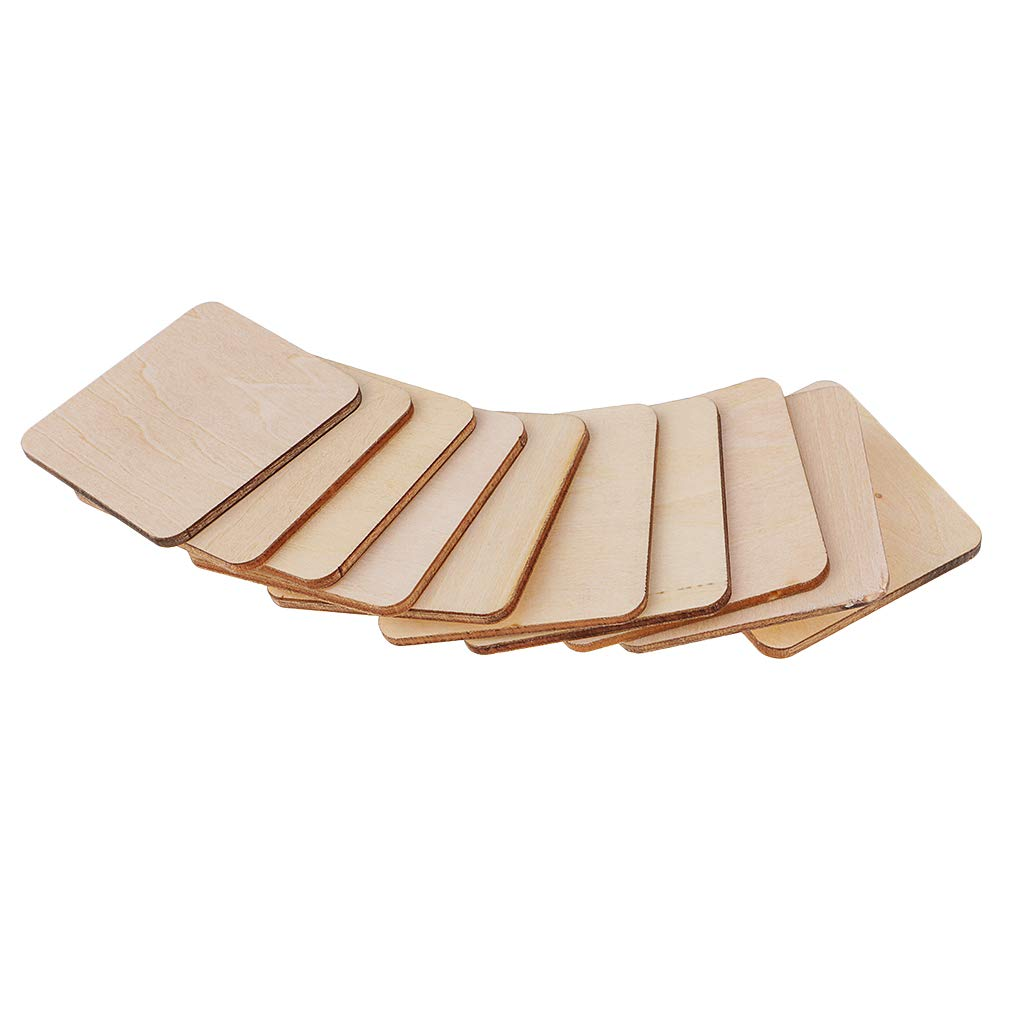 Fityle 5//10 Pieces Unfinished Square Wood PBlank Boards Plywood Sheets for Crafts 80mm 120mm Models /& Pyrography Wood Plaque Sign DIY Woodburning Materials 50mm 5pcs 120x3mm