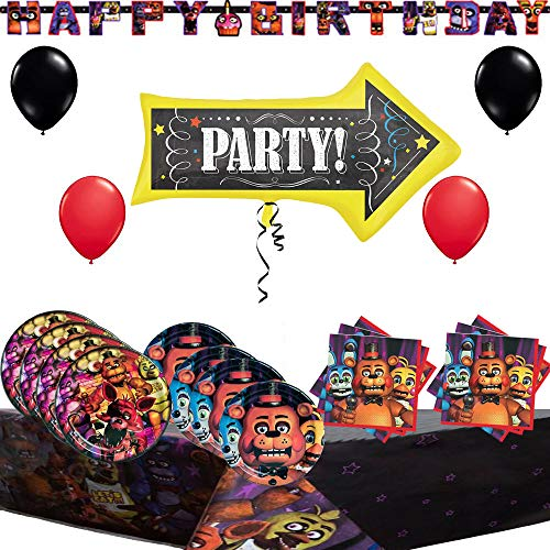 Combined Brands Five Nights at Freddys Party Pack and Decoration Kit -