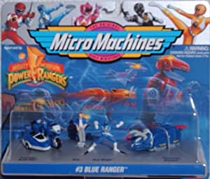 Mighty Morphin Power Rangers Micro Machines Set #3 Billy Blue Ranger (1994 Galoob)