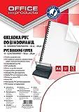 Okladki do bindowania Office Products A4 PVC 100 sztuk bezbarwna/transparentna