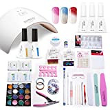 Azure Beauty Gel Nail Polish Starter Kit 24W LED Nail Dryer Curing Lamp and Gel Polish Manicure Tool WSGP19