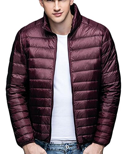 EKU Men's Big And Tall Packable Puffer Down Jacket Coat US XXL Wine Red