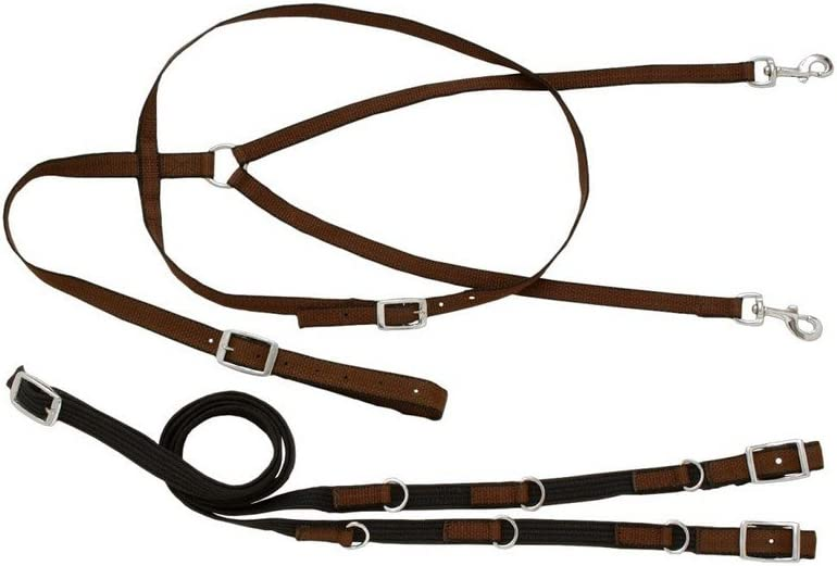 German Martingale Rein Set Brown Leather
