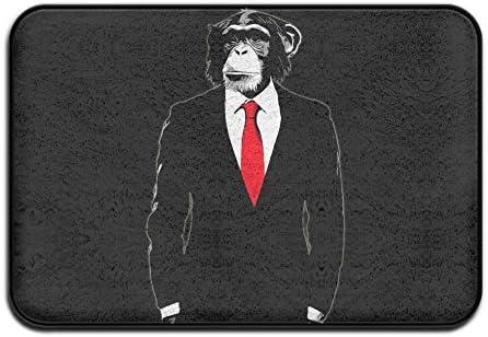 lingliii domésticos Mono con traje y corbata roja. Nice puerta Mat ...