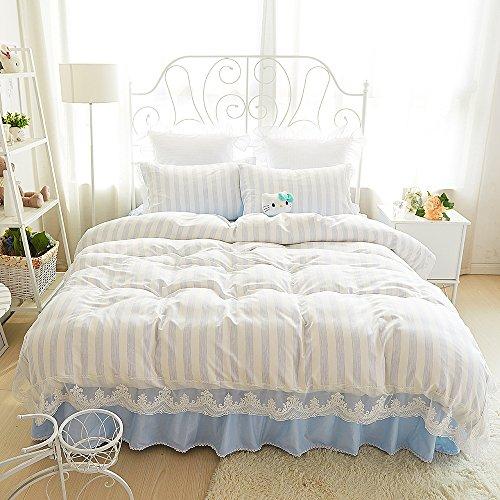 Cheap  MeMoreCool Well-designed Upgrade Cotton and Tencel Bedding Set,Princess Lace Duver Cover Set,Elegant..