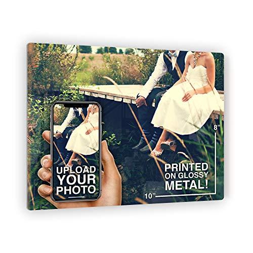 Anvevo 10x8 Custom Metal Photo Print Metal Picture Prints of Your Photo ()