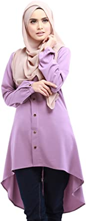 XFentech Mujeres Moda Hermoso Largo Camisa Vestido de Musulmán Árabe Túnica Manga Larga Largos Maxi Caftán Vestidos