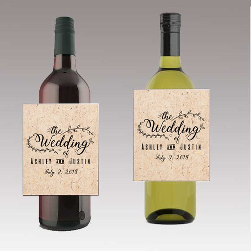 12 The Wedding Wine / Beer Bottle labels Easy to Use Self Stick Labels -