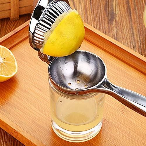 VLUNT HOME Exprimidor Manual De Limones, Exprimidor Manual De Cítricos, Resistente Y Duradero, Anticorrosivo, Súper Fácil De Limpiar (22 * 7CM)