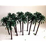 Evemodel TDT18 10pcs Layout Model Train Palm Trees Scale O 18cm