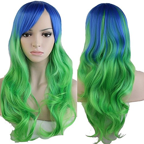 24-40″ Long Curly Wavy Cosplay Full Hair Wigs Women Anime Party Dress Costume