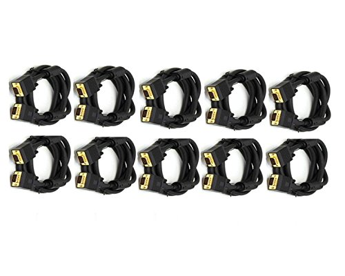 C&E 10 Feet, Standard 15-Pin VGA Male to VGA Male Cable, 10 Pack, - S-video Performance High