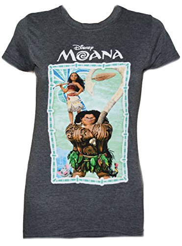 Disney Moana Maui Palm Group Juniors T-Shirt