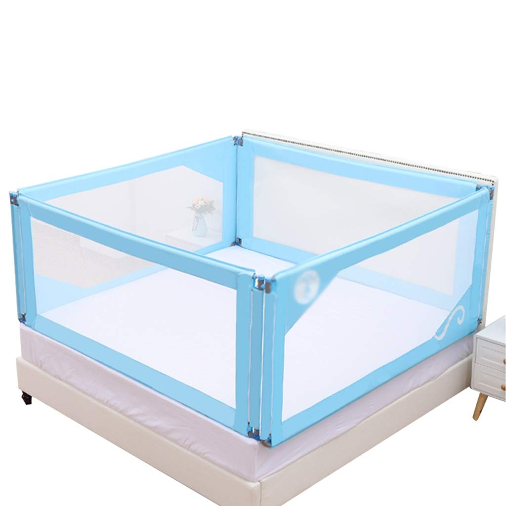 CSQ ベッドサイドのバッフル、ベッドルームの大きなベッドの赤ちゃんはベッドに転がすアンチ秋のベッドのレールを上げる多機能のガードレールを、1.5-2M 子供の遊び場 (色 (色 : 青, サイズ 青, : さいず : 180*190CM) 180*190CM 青 B07QW22L86, GO-CAT-GO YOKOHAMA:9b36f4e2 --- number-directory.top