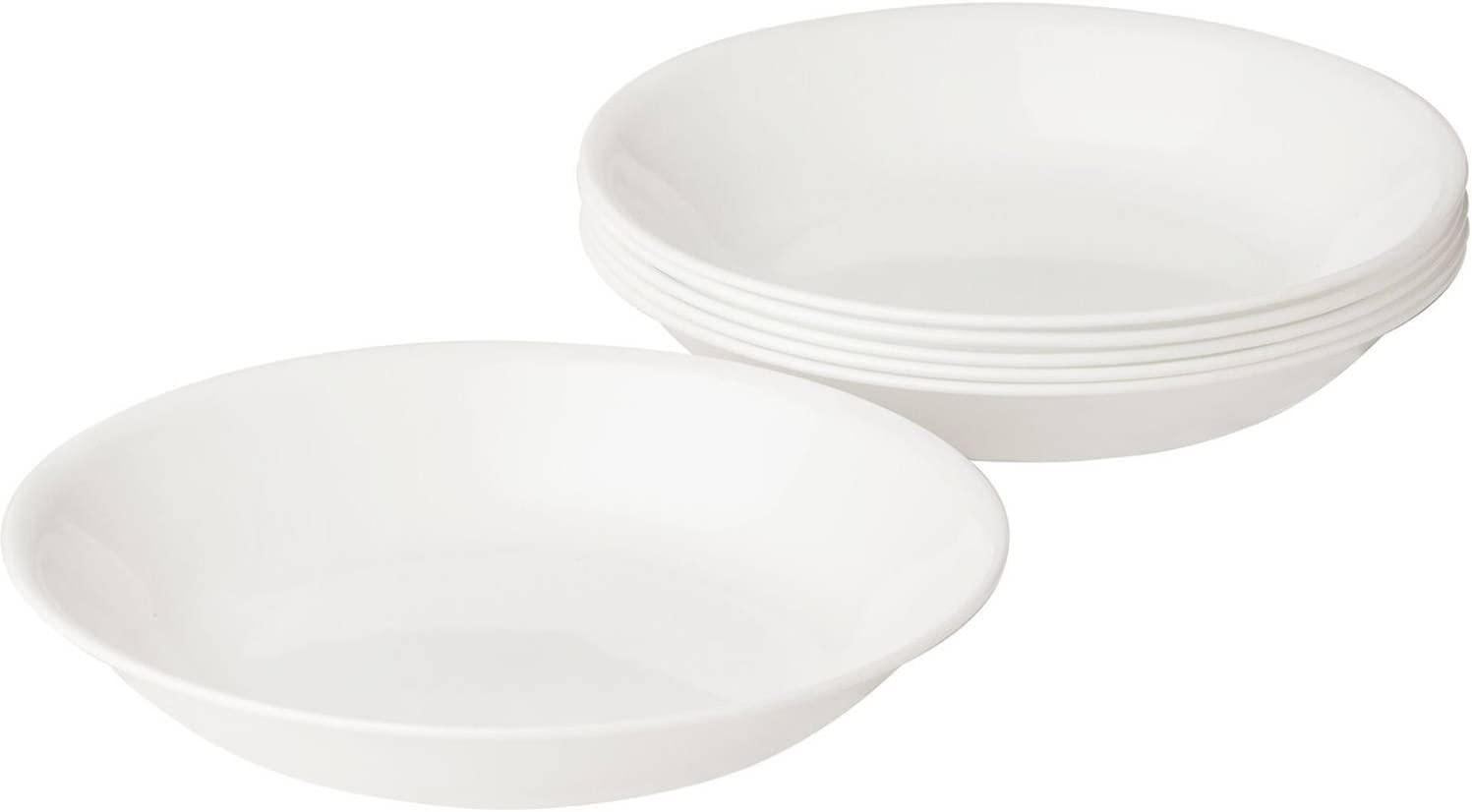Corelle Livingware Winter Frost White 20-oz Pasta Bowls Set of 6