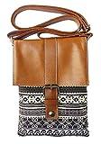 Bijoux De Ja Printed Cotton Fabric Mini Cross Body Shoulder Handbag (Tracery)