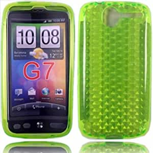 Gel Case Cover Skin For HTC Desire G7 / Green Design