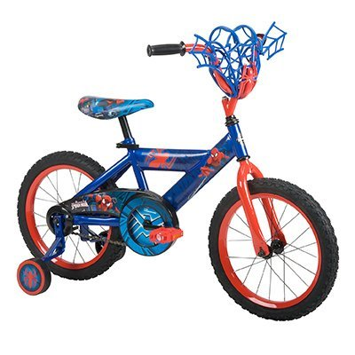 """Huffy 16"""" Marvel Spider-Man Bike by, Ages 4-6, Rider Height 42-48"""""""
